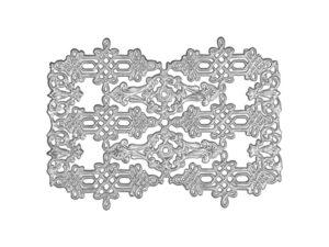 Zierecke 3 Modelle Dresdner Pappen Detail silber