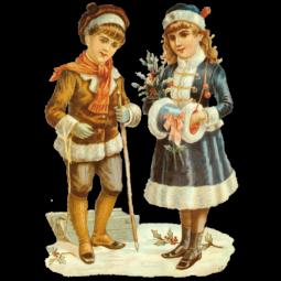 Dresdner-Pappen-Glanzbilder-Kinderpaar-gross-schatten