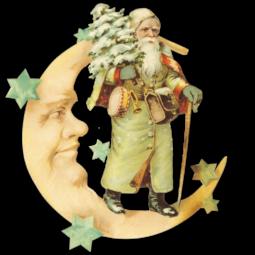Dresdner-Pappen-Glanzbilder-weihnachtsmann-mit-mond